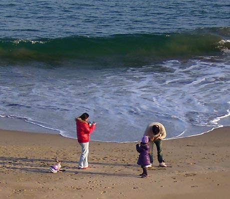 海岸で遊ぶ一家.jpg